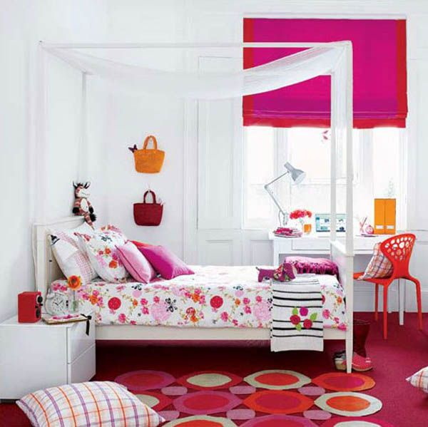 Διακοσμητικές σχεδιαστικές ιδέες για εφηβικά κοριτσίστικα δωμάτια.