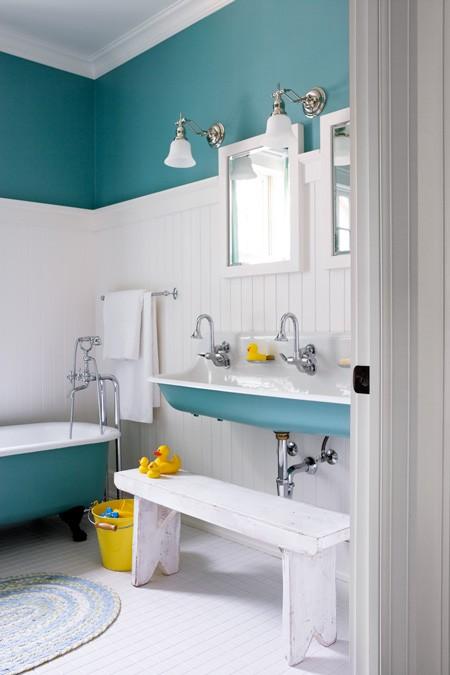 Χαριτωμένες Ιδέες  διακόσμησης παιδικού  μπάνιου