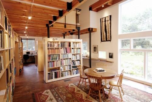 Έξυπνες Ιδέες για να οργανώσετε μια βιβλιοθήκη στο σπίτι χωρίς ένα ειδικό δωμάτιο