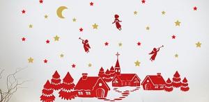 Χριστουγεννιάτικη διακόσμηση με αυτοκόλλητα τοίχου-4