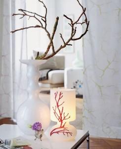 ιδέες διακόσμησης με κλαδιά δέντρων