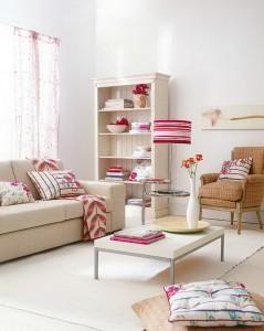 πολύχρωμες ιδέες διακόσμησης καθιστικού-2