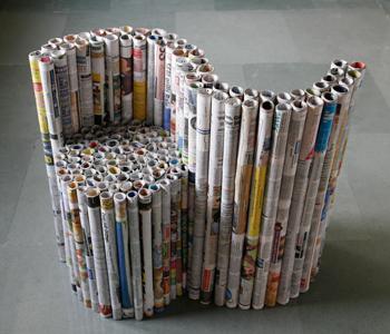 Έπιπλα από εφημερίδες