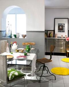 Μοντέρνος και ασυνήθιστος σχεδιασμός κουζίνα