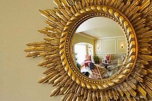 Reflection in Ornate Convex Mirror