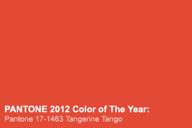 Pantone Tangerine Tango χρώμα χρονιάς 2012