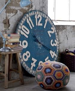 διακόσμηση με Vintage ρολόγια2