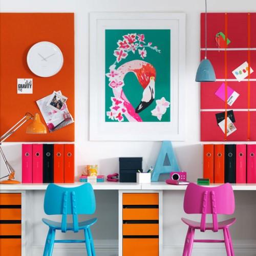 23 πολύχρωμες ιδέες σχεδίασμου γραφείου
