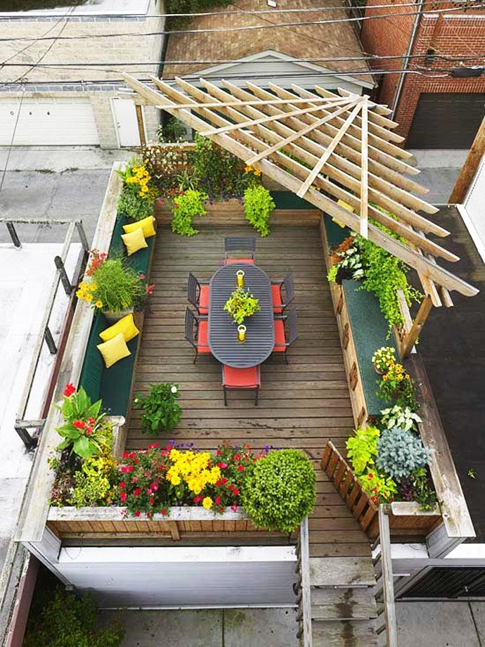 Ιδέες για ένα κήπο στη στέγη