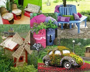 Δημιουργικές Χειροποίητες ιδέες διακοσμήσης για τον κήπο20