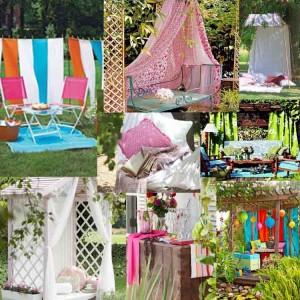 Ιδέες διακόσμησης με υφάσματα για τον κήπο σας35