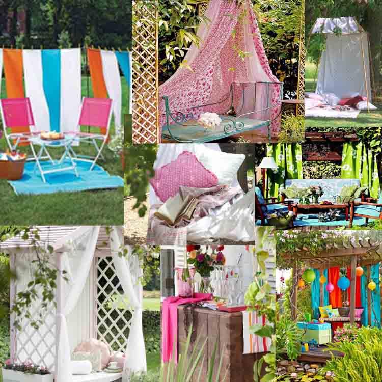 Οι καλύτερες Ιδέες διακόσμησης με υφάσματα για τον κήπο σας