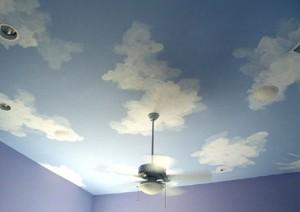 Πώς να βάψετε σύννεφα στους τοίχους ή την οροφή