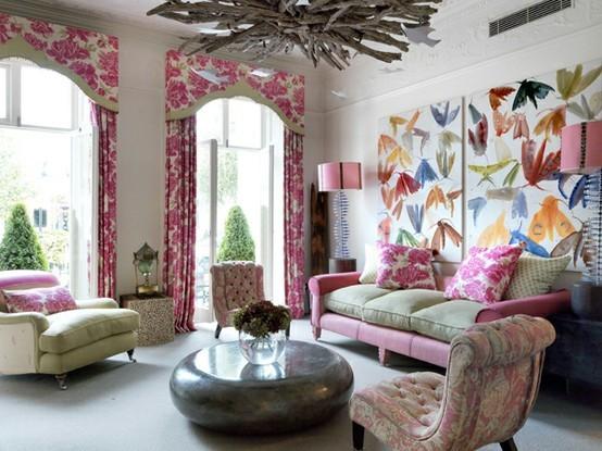 Ονειρικές Ιδέες σχεδιασμού για πολύχρωμα σαλόνια1