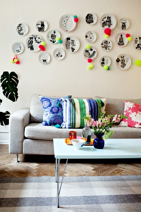 Ονειρικές Ιδέες σχεδιασμού για πολύχρωμα σαλόνια15