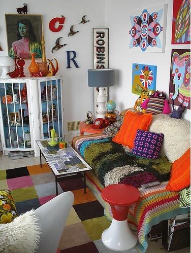 Ονειρικές Ιδέες σχεδιασμού για πολύχρωμα σαλόνια16