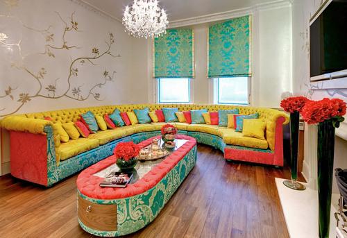 Ονειρικές Ιδέες σχεδιασμού για πολύχρωμα σαλόνια17