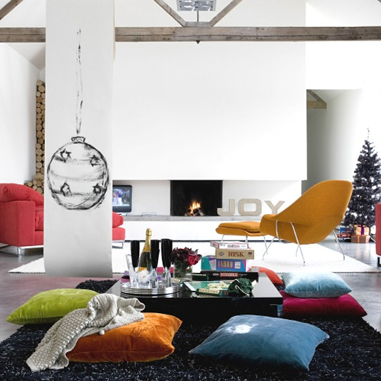 Ονειρικές Ιδέες σχεδιασμού για πολύχρωμα σαλόνια18