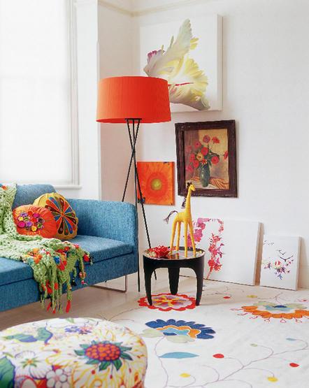 Ονειρικές Ιδέες σχεδιασμού για πολύχρωμα σαλόνια26