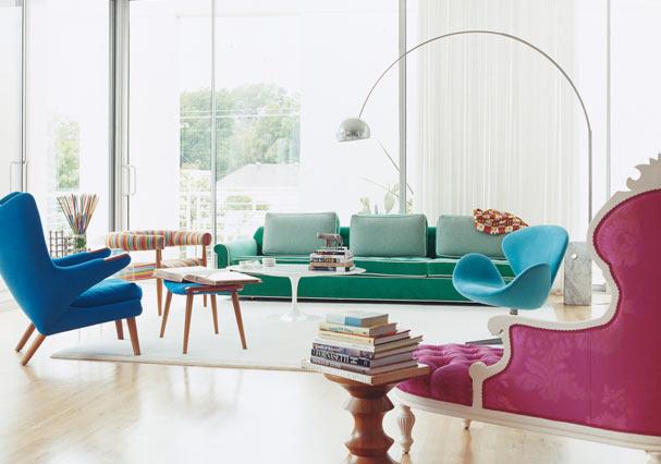 Ονειρικές Ιδέες σχεδιασμού για πολύχρωμα σαλόνια27