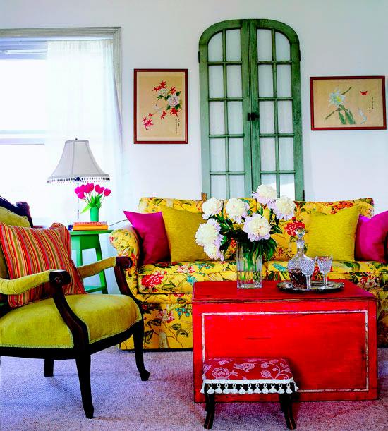 Ονειρικές Ιδέες σχεδιασμού για πολύχρωμα σαλόνια9