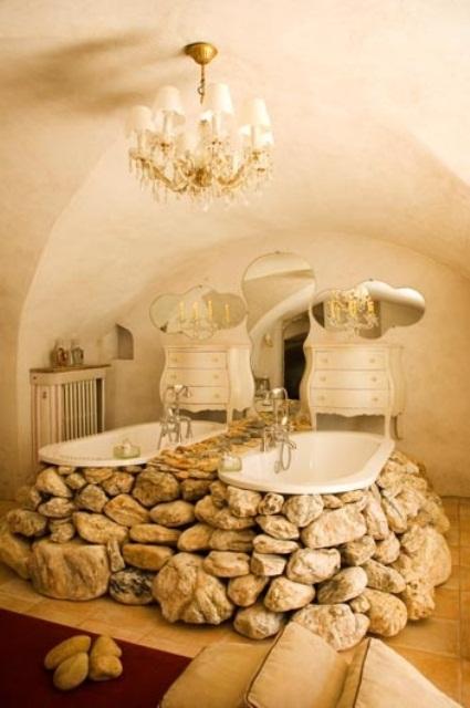 ιδέες σχεδιασμού μπάνιου από φυσική πέτρα1
