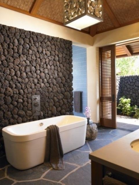 ιδέες σχεδιασμού μπάνιου από φυσική πέτρα2