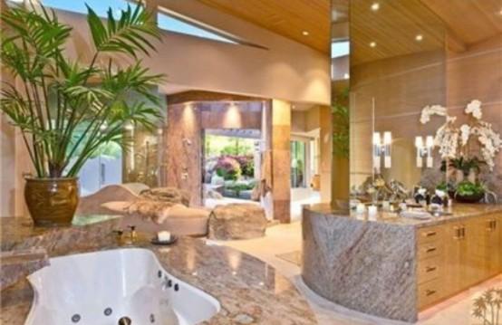 ιδέες σχεδιασμού μπάνιου από φυσική πέτρα27