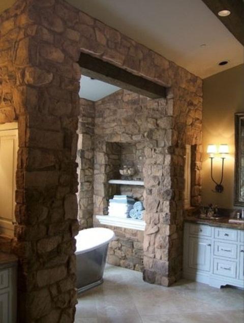 ιδέες σχεδιασμού μπάνιου από φυσική πέτρα6