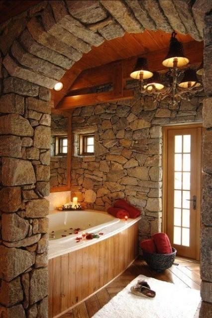 ιδέες σχεδιασμού μπάνιου από φυσική πέτρα9