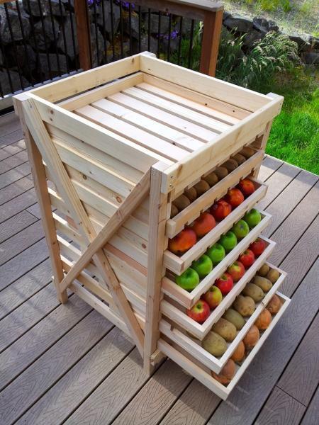 Ραφιέρα αποθήκευσης φρούτων