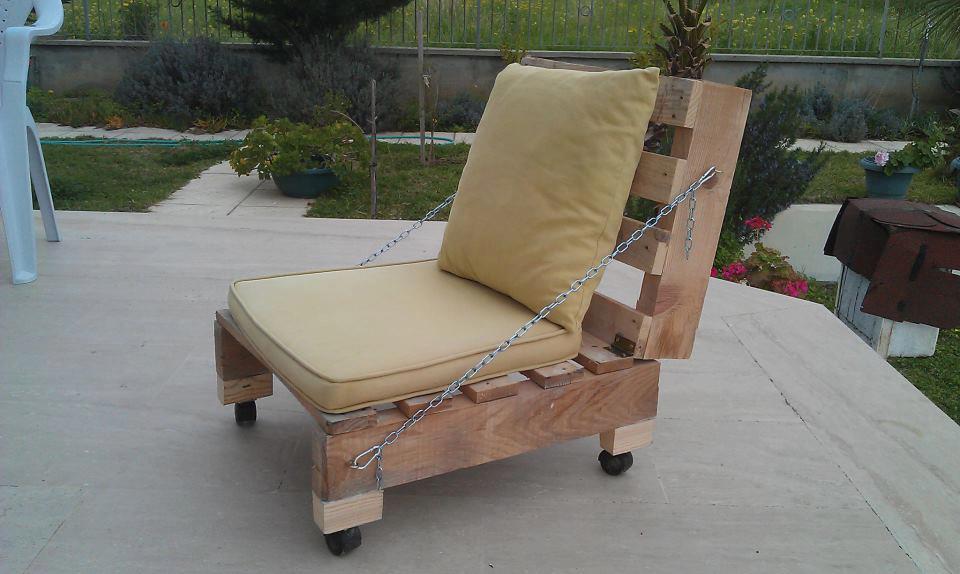 πολυθρόνα από παλέτες