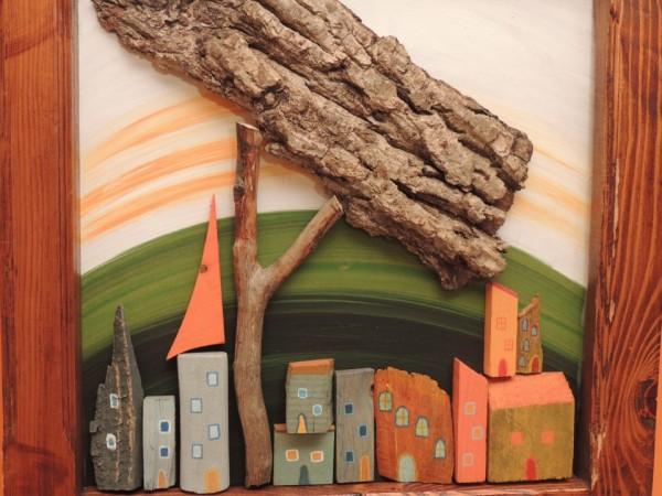 Πανέμορφα Diy κάδρα με συδυασμό κλαδιών δέντρου και χρώματος για εκπληκτικές διακοσμήσεις