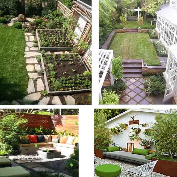 μικρή αυλή και κήπος