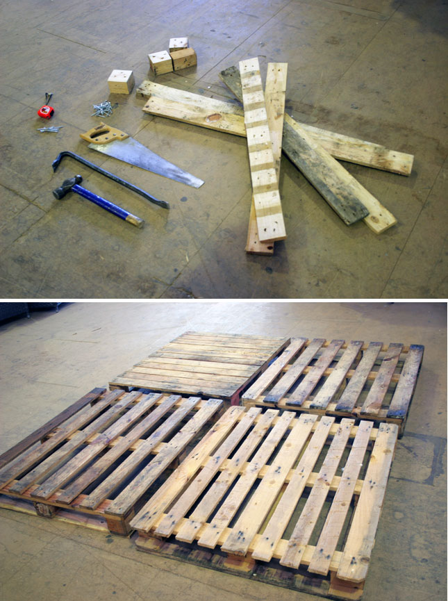 diy παλετοκατασκευή τραπεζάκι  με καρέκλες για τον κήπο3