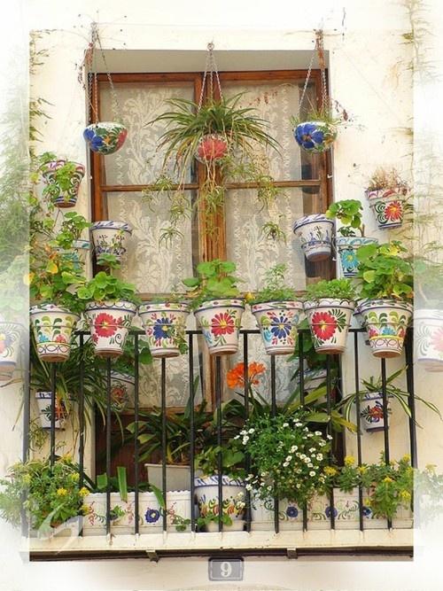Διακόσμηση μπαλκονιού με λουλούδια15