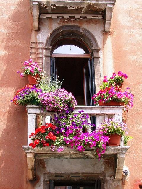Διακόσμηση μπαλκονιού με λουλούδια33