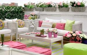 ροζ και πράσινοι συνδυασμοί χρωμάτων για την εξωτερική διακόσμηση1