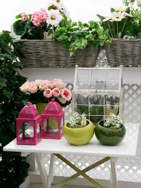 ροζ και πράσινοι συνδυασμοί χρωμάτων για την εξωτερική διακόσμηση3