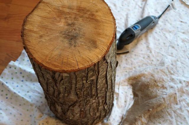 Diy τραπεζάκι από κούτσουρο δέντρου1