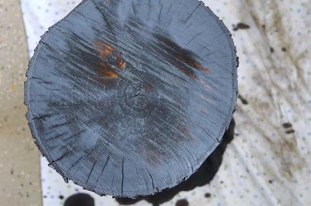 Diy τραπεζάκι από κούτσουρο δέντρου3