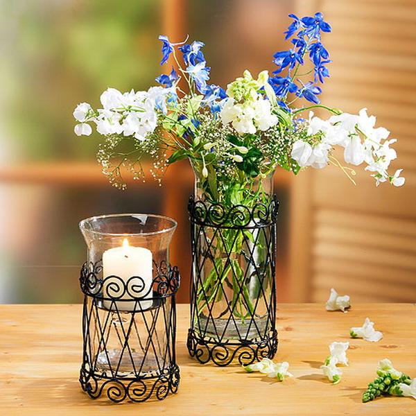 Διακόσμηση με μπλε λουλούδια11