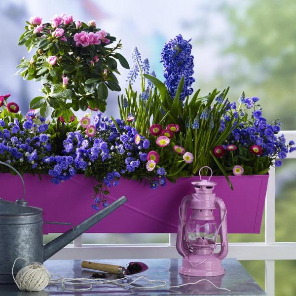 Διακόσμηση με μπλε λουλούδια14