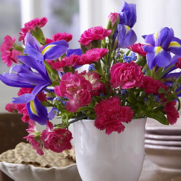 Διακόσμηση με μπλε λουλούδια15