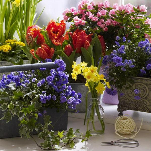 Διακόσμηση με μπλε λουλούδια18