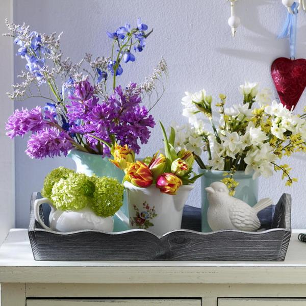 Διακόσμηση με μπλε λουλούδια19