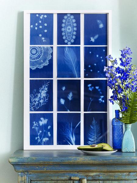 Διακόσμηση με μπλε λουλούδια3