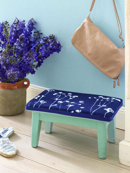 Διακόσμηση με μπλε λουλούδια4