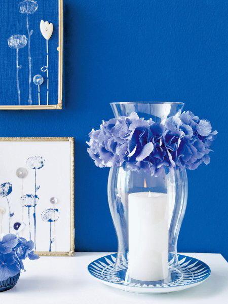 Διακόσμηση με μπλε λουλούδια5