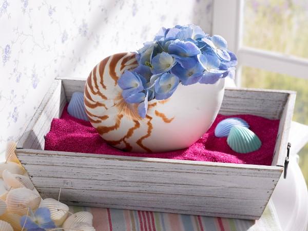 Διακόσμηση με μπλε λουλούδια6